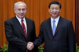 Benjamin Netanyahu with Xi Jin Ping
